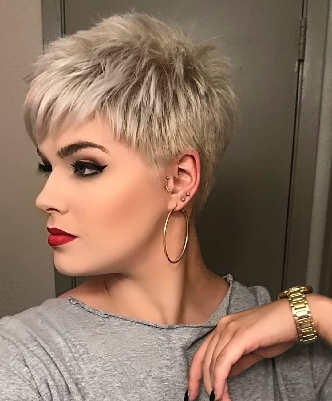 Short blonde pixie cut | Hair dos | Short hair cuts for ...