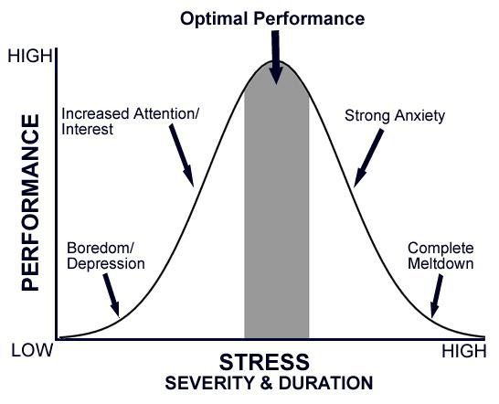 Stress Vs Performance Chart  Business Lessons
