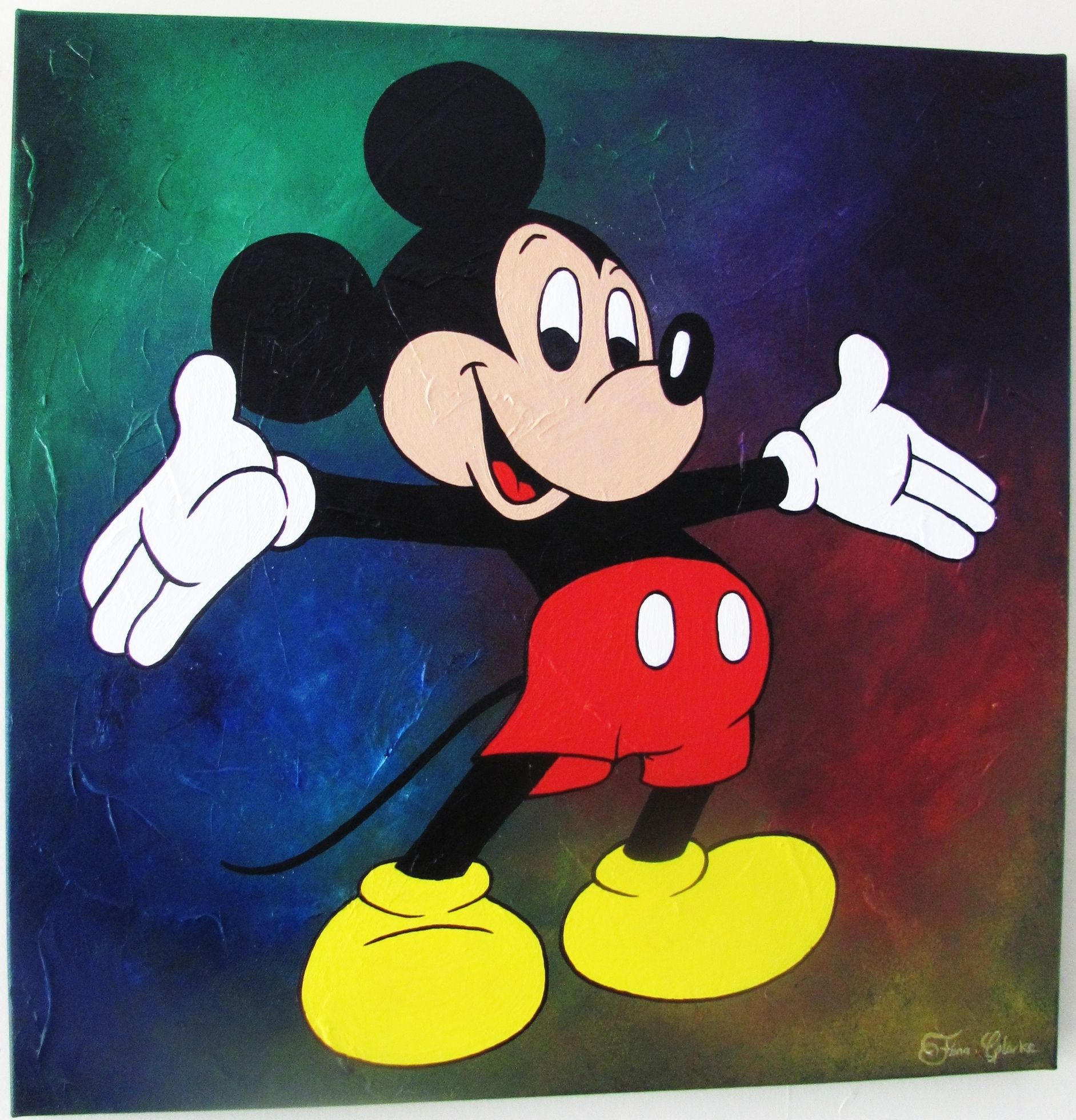 90's Style Mickey Mouse painting | Acrylic art | Pinterest ...