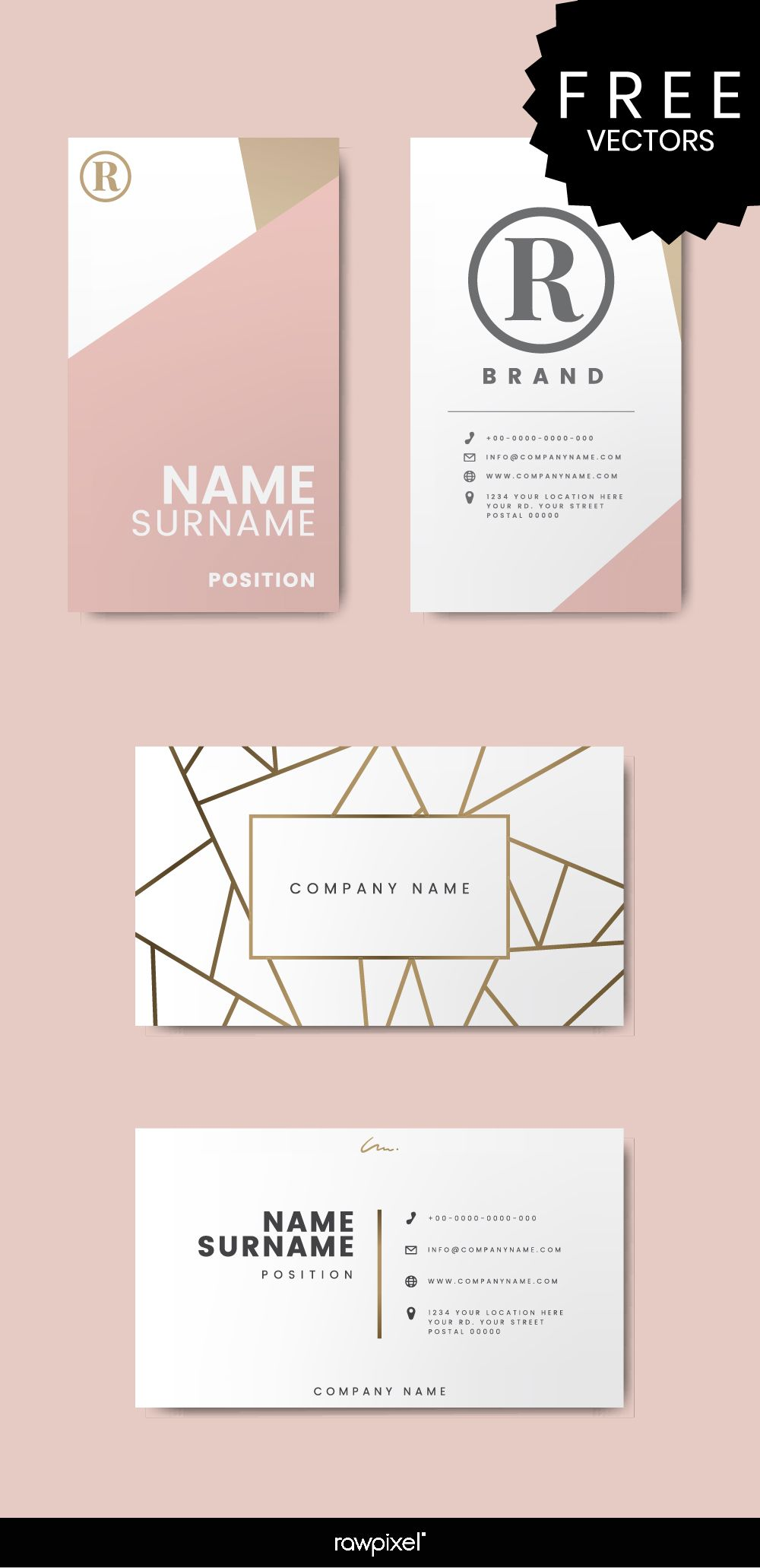 Download Minimal Modern Pastel Theme Business Card Mockups And