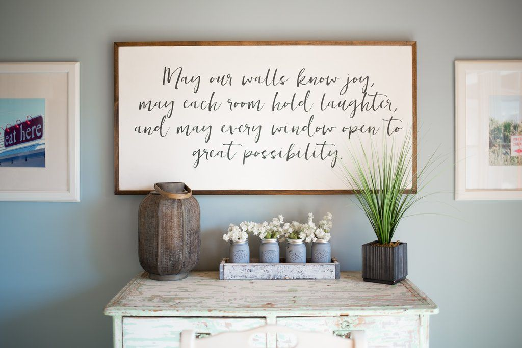 May Our Walls Know Joy Wood Signs Home Decor Home Decor Signs Handmade Home Decor