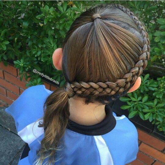feathered ponytail into a Dutch braid