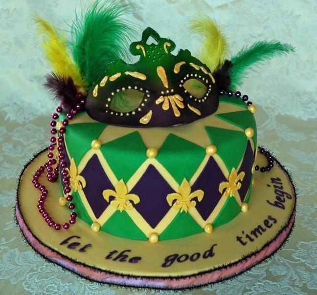 Mardi Gras Cake Tartas Bonitas Pastel Con Flores Tarta De Cumpleanos