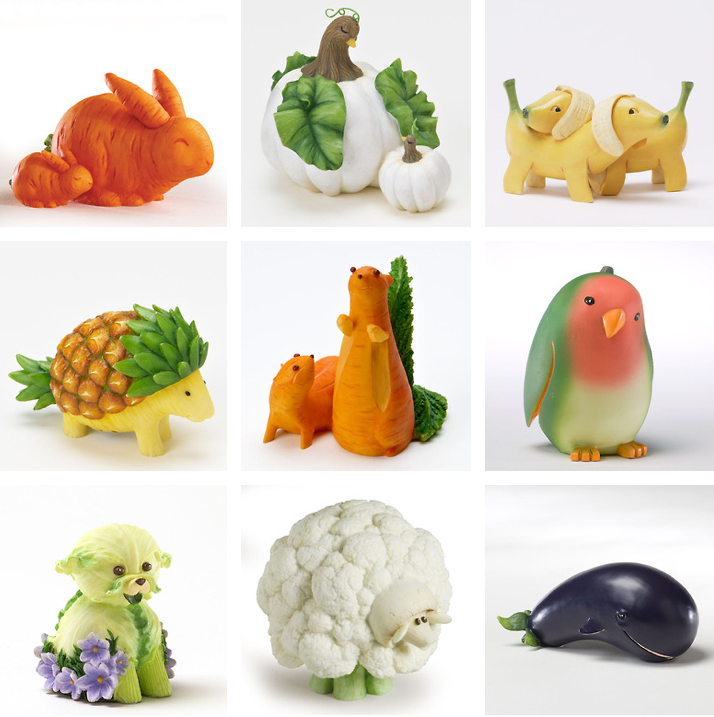 Fruit and vegetable animals diy food presentation