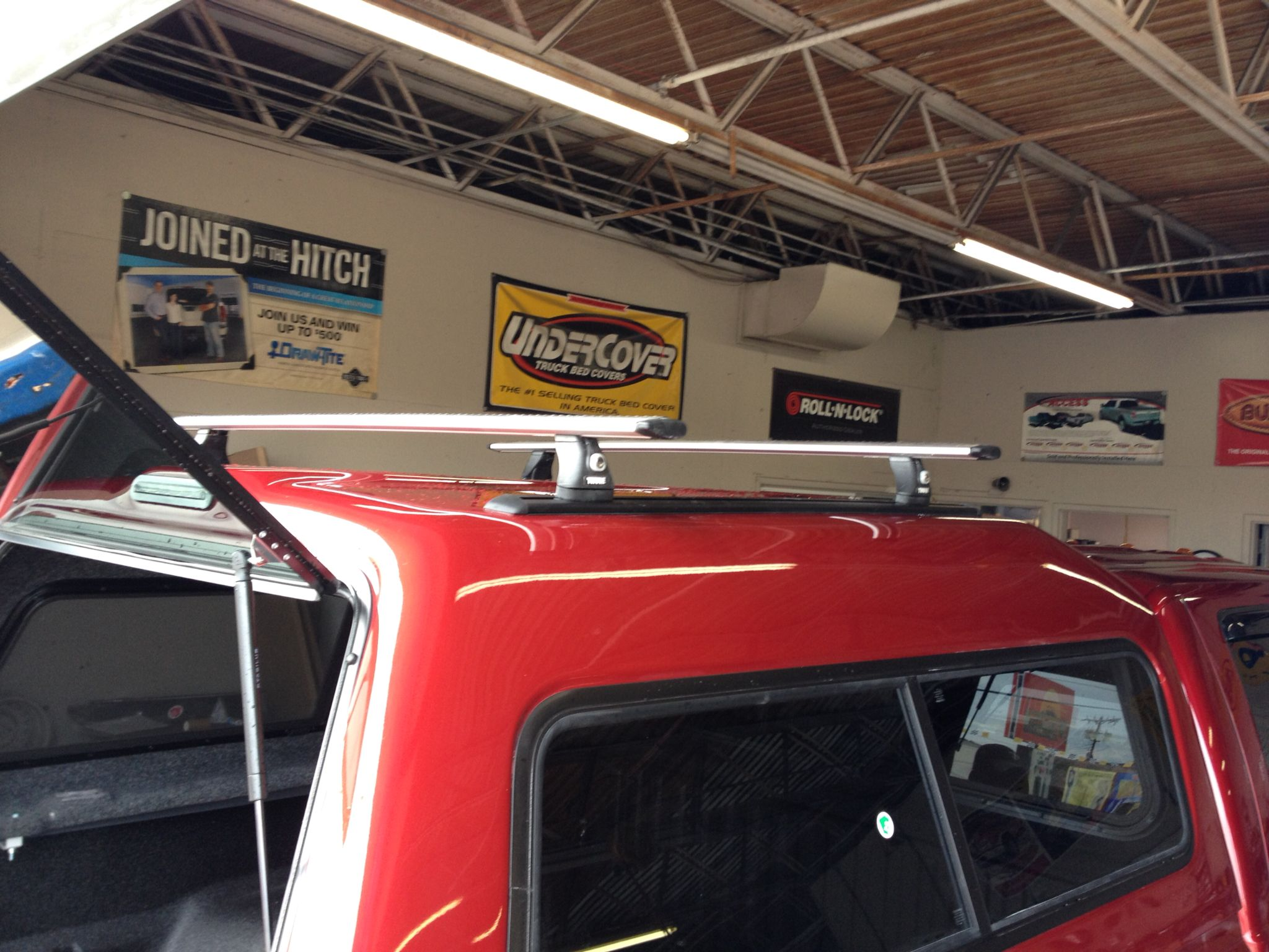Leer 180 With Thule Aero Blade Roof Rack System Roof Rack Racking System Ford F250