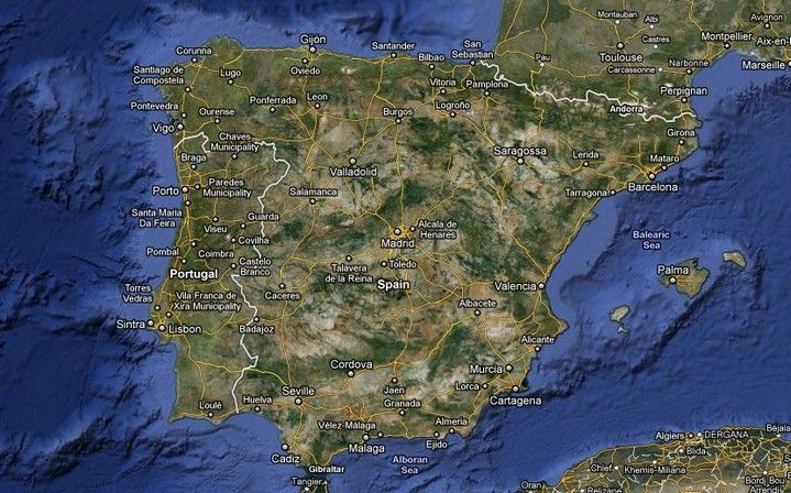 Google Spain Map.Spain Map Google Search Thed 775 Pinterest Spain Map Of