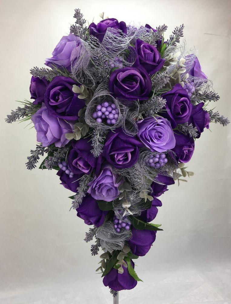 Букет сиреневых калланет, цветов