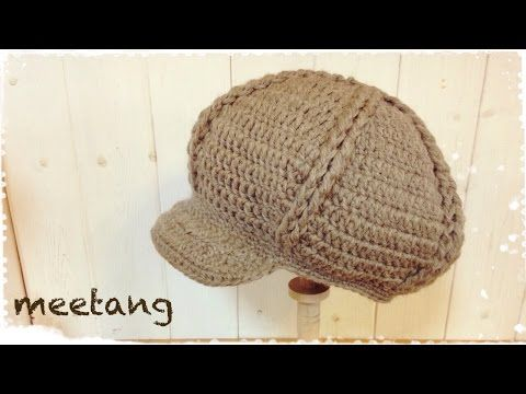 How to Crochet the Newsboy-Style Cap With the Double Crochet Stitch ...
