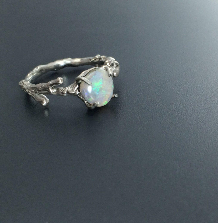 Silver opal ring, Opal rings, Silver rings