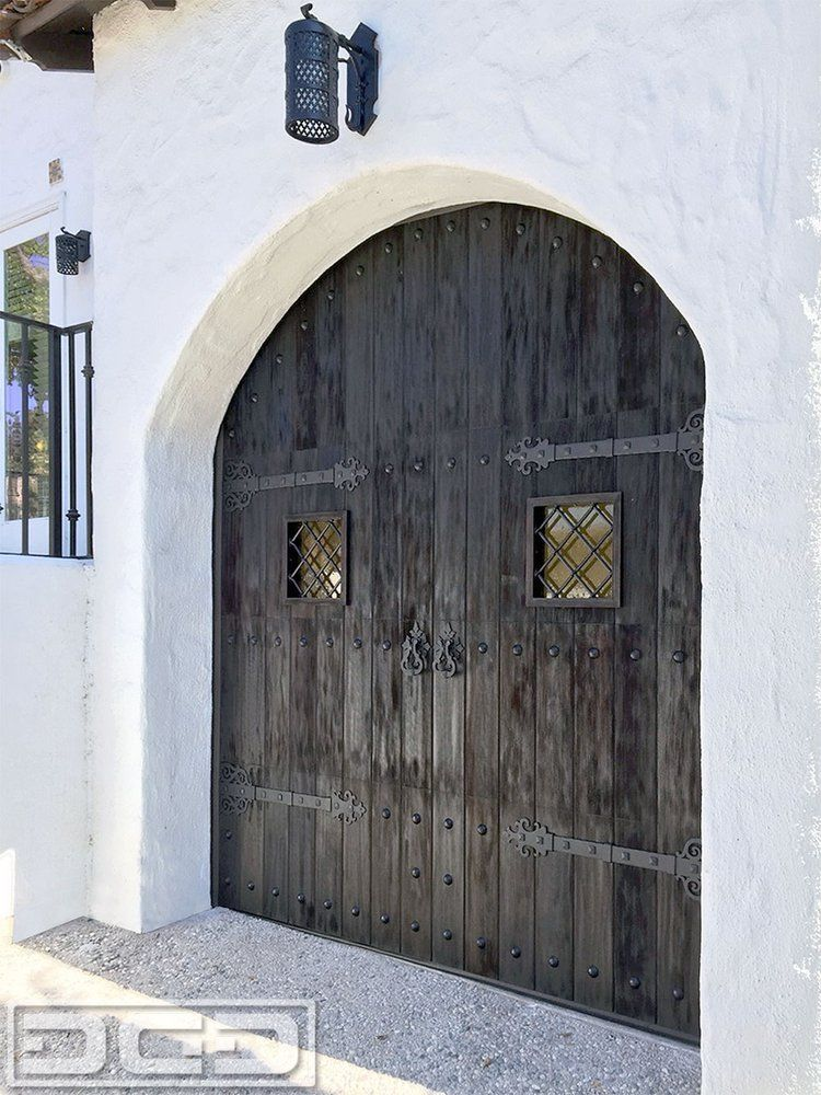 San Francisco Spanish Colonial Garage Door Design By Dynamic Garage Door.  Custom Handcrafted European Garage