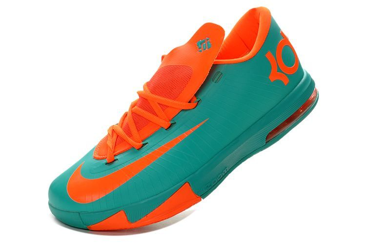aa20934472b5 Nike KD VI 6 Teal Team-Orange On Sale