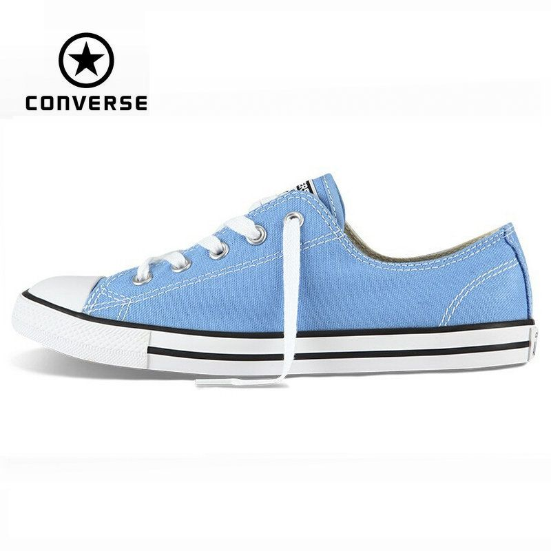 6997b4ff778 Original Converse All Star shoes Dainty sneakers women low powderblue  canvas shoes for women Skateboarding free shipping-in Skateboarding Shoes  from Sports ...
