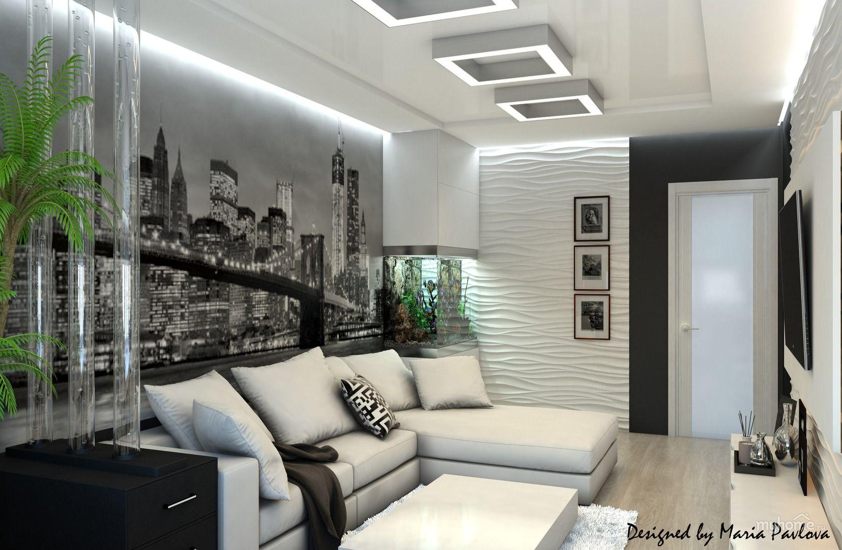 фотообои в современной гостиной для молодой пары долговечности настенного покрытия