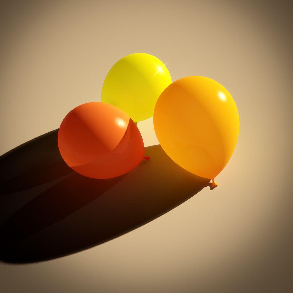 free max model shader balloon materials | 3D models