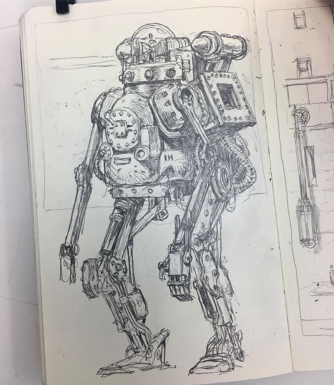 Regram Seanandrewmurray Another Steambot Sketch Sketchbook