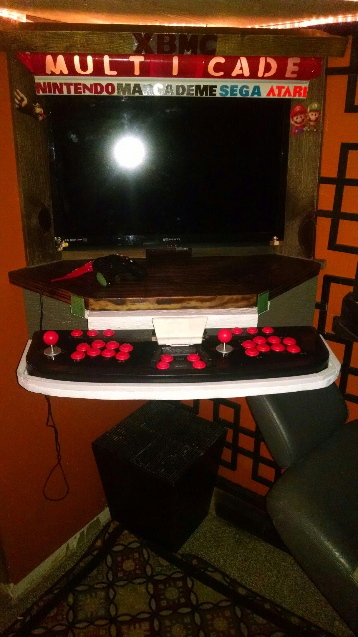 My arcade setup vintage Blaze two player arcade sticks