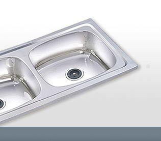 Steel Double Kitchen Sink, Single Bowl Single Drain | Bathroom ...