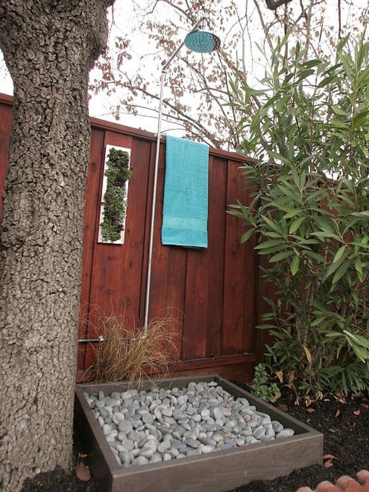 douche de jardin diy douche solaire et