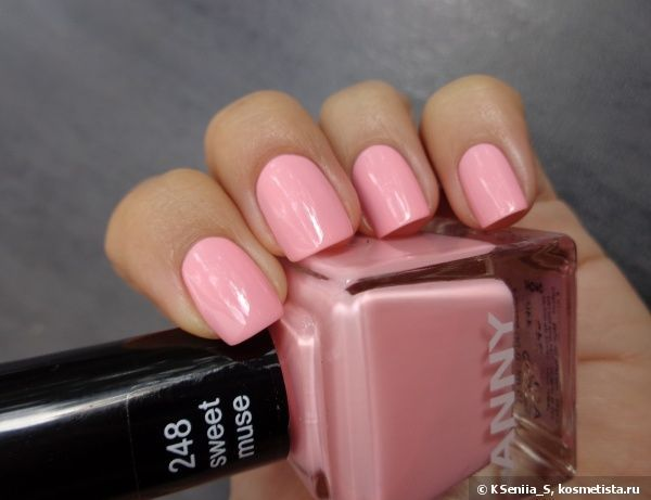 anny nail polish collections - sweet muse - pale pink