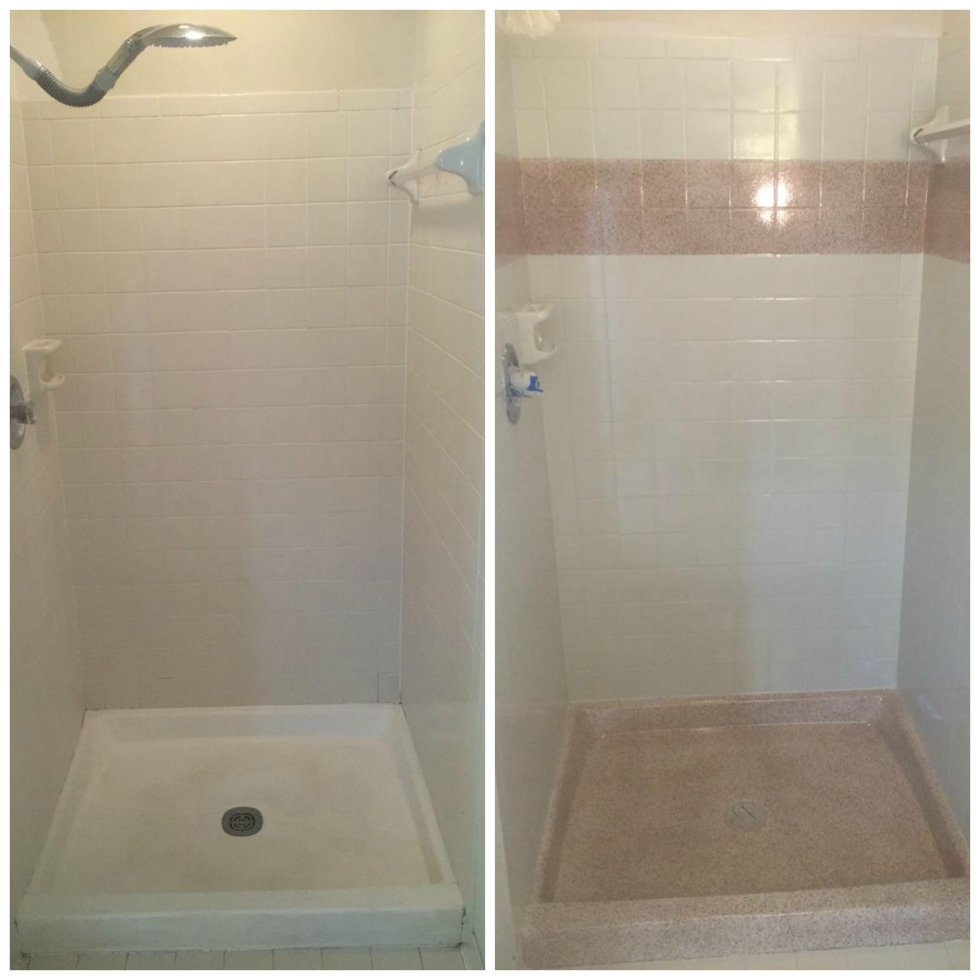 Shower pan and tile resurface in Cliff, one of our custom stone ...