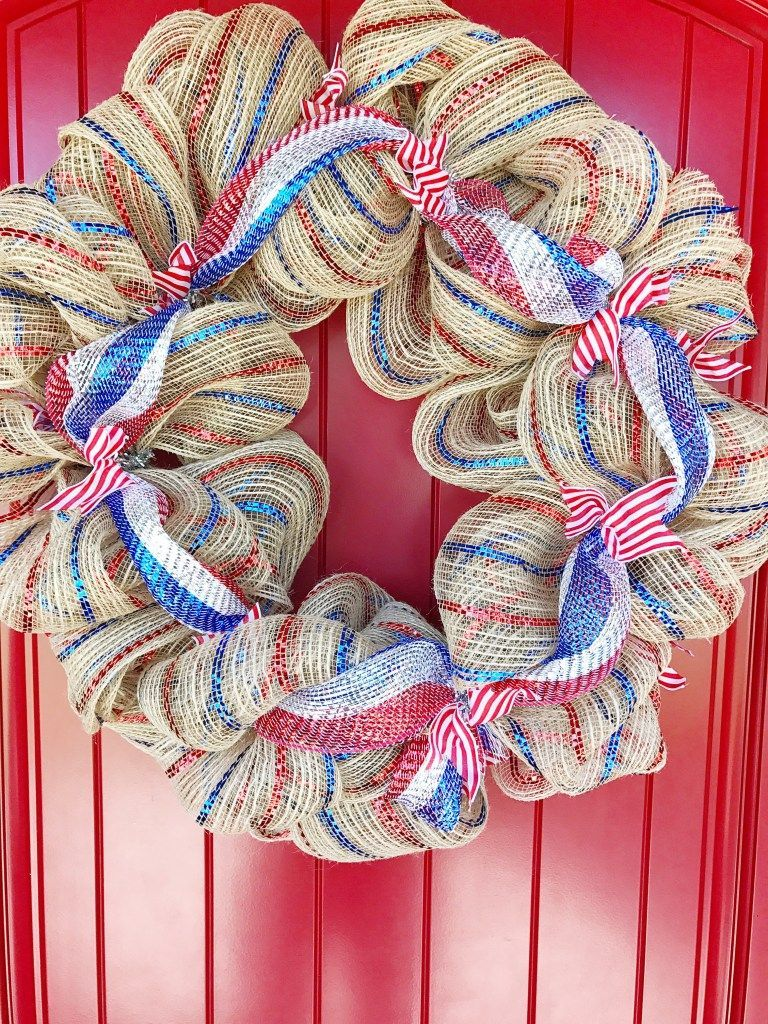 How To Make A Deco Mesh Wreath #decomeshwreaths