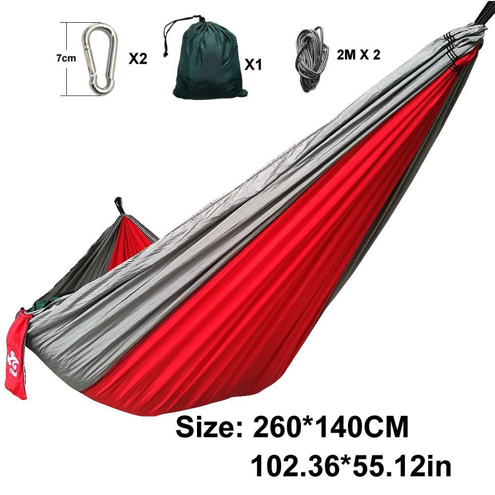 Double person hammock parachute portable outdoor camping indoor home