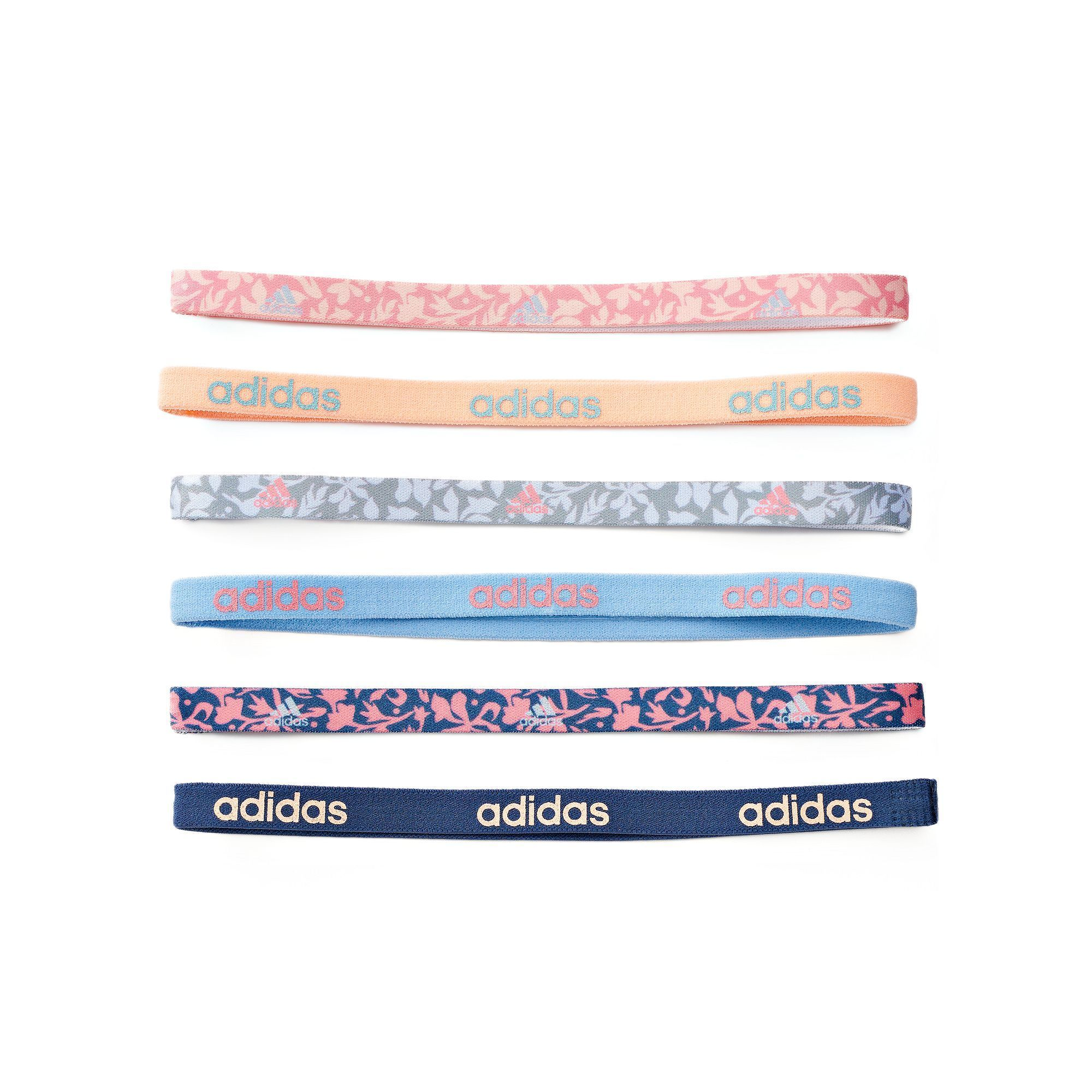 Women s adidas Fighter 6-pk. Floral   Solid Headband Set in 2019 ... d37883dc995