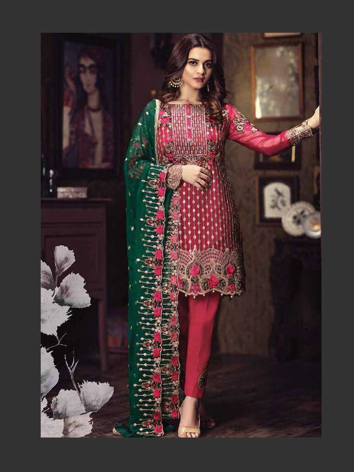 98453955b707 Buy beautiful red pakistani wedding dress online in various shades and  designs for shaadi season. Shop the latest trendy pakistani salwar kameez  for ...