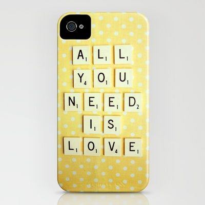 All You Need is Love iPhone Case by Happeemonkee - $35.00