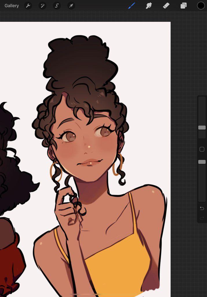 Ghada ♥ غادة on Twitter | Anime curly hair, Curly hair ...