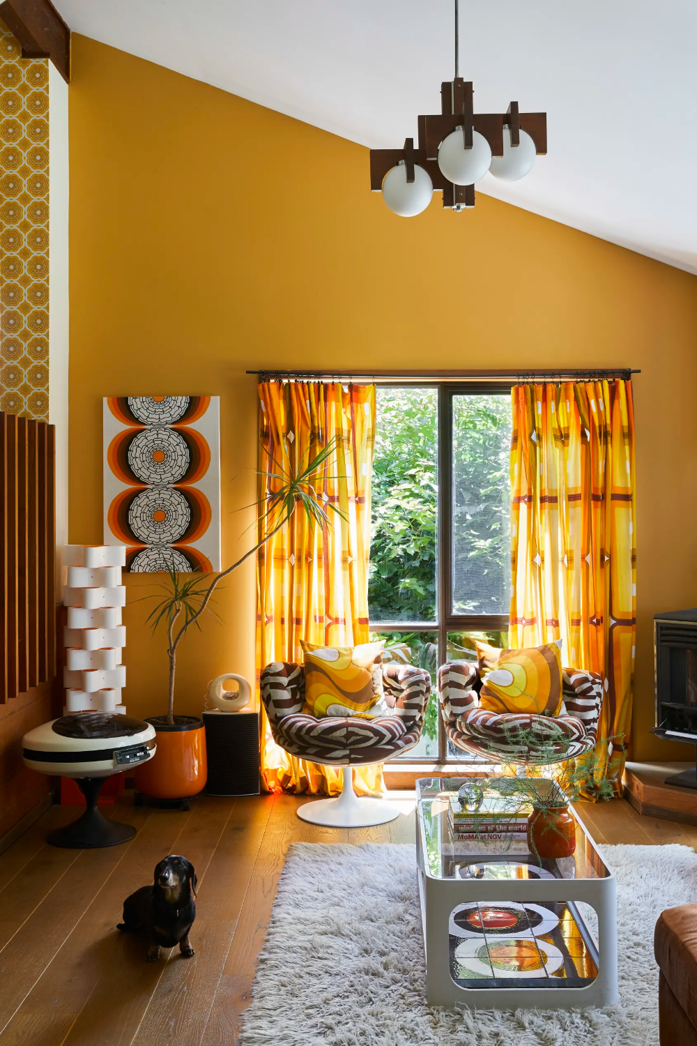 space age meets scandi and shag rugs in this groovy