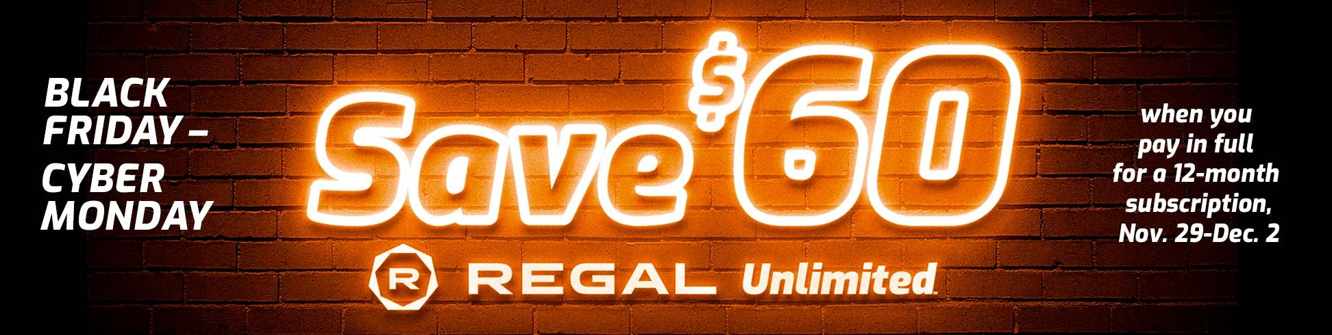 60 Off Regal Unlimited Endless Movie Tickets EXP 12/2