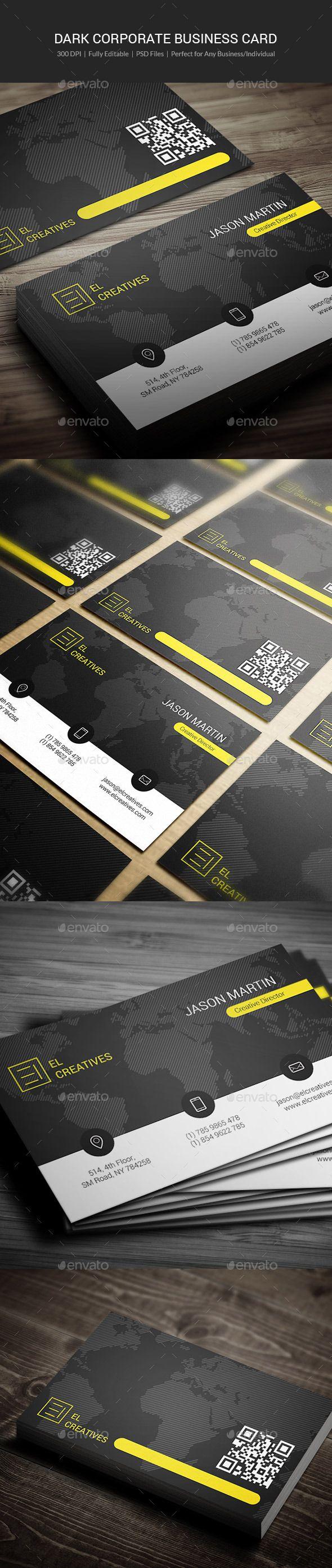 Dark Corporate Business Card Template #design Download: http://graphicriver.net/item/dark-corporate-business-card-05/11371477?ref=ksioks