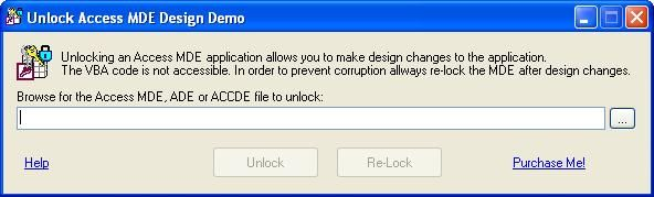 Unlock Access MDE Design unlocks MS Access MDE, ADE and ACCDE forms