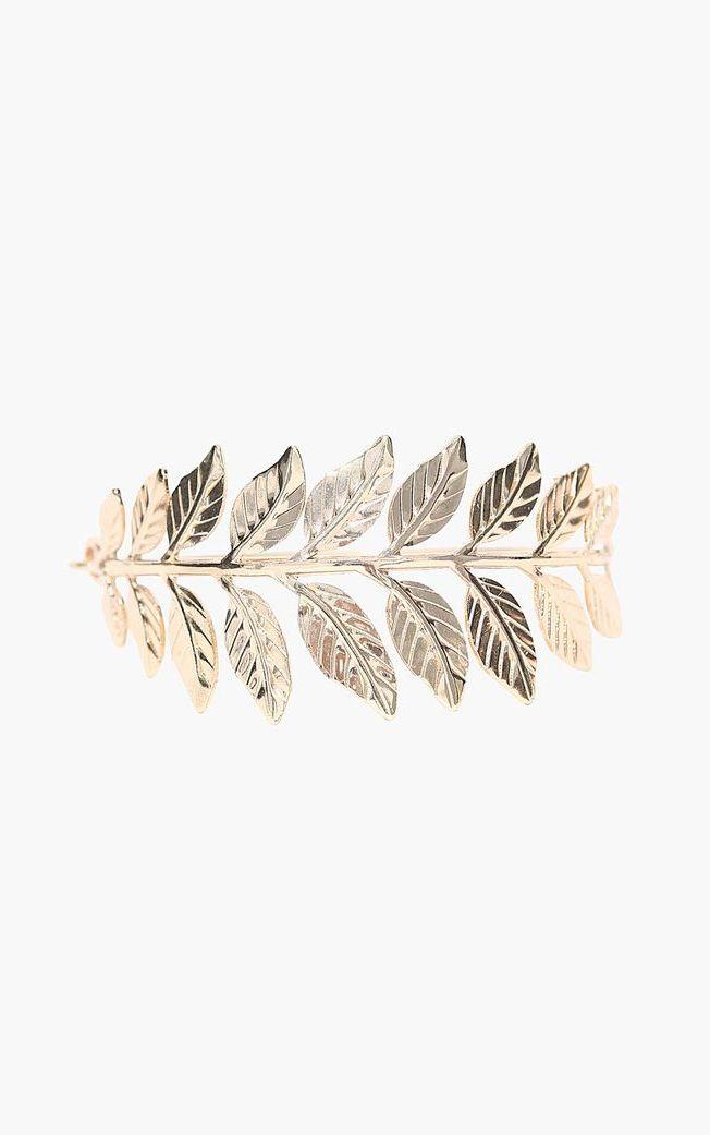 Caesar Golden Leaf Bracelet in Gold