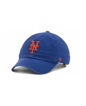 newest 34523 0f73b  47 Brand New York Mets Clean Up Hat - Blue