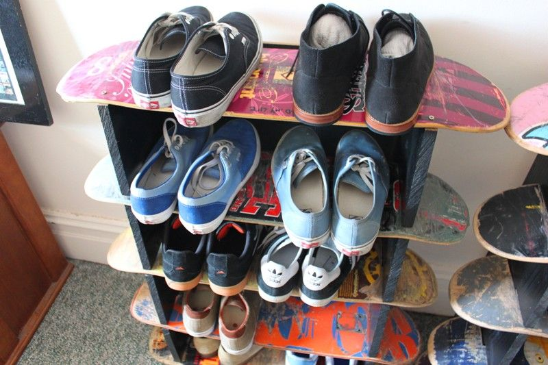 Skateboard Shoe Shelf · KinderzimmerSkateboard SchlafzimmerSkateboard RegaleSkateboardkunstSchuhschränkeSchuhregalSchuhaufbewarungFür  ...