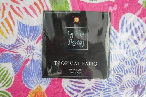 Cynthia Rowley Tropical Batiq Set Of 2 Standard Quilted Pillow Shams Batik New Pillow Shams Quilted Pillow Shams Quilted Pillow Pillow Shams