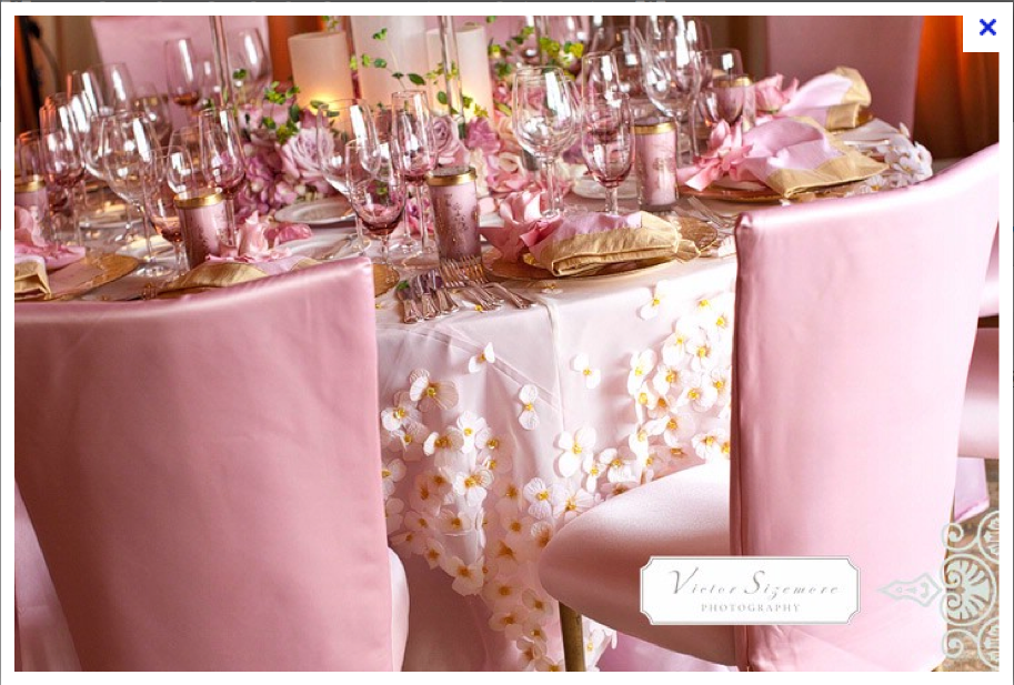 fabulous table setting with pink and gold | pink and gold = LUXE ...