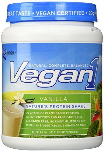 Nutrition53 Vegan1 Shake Vanilla 15 Pound ** Details can be