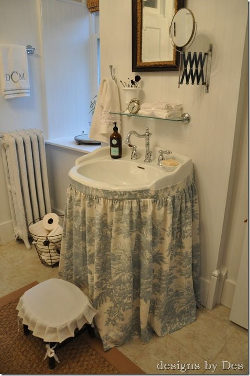 A Touch Of Toile Bathroom Style French Vintage Bathroom