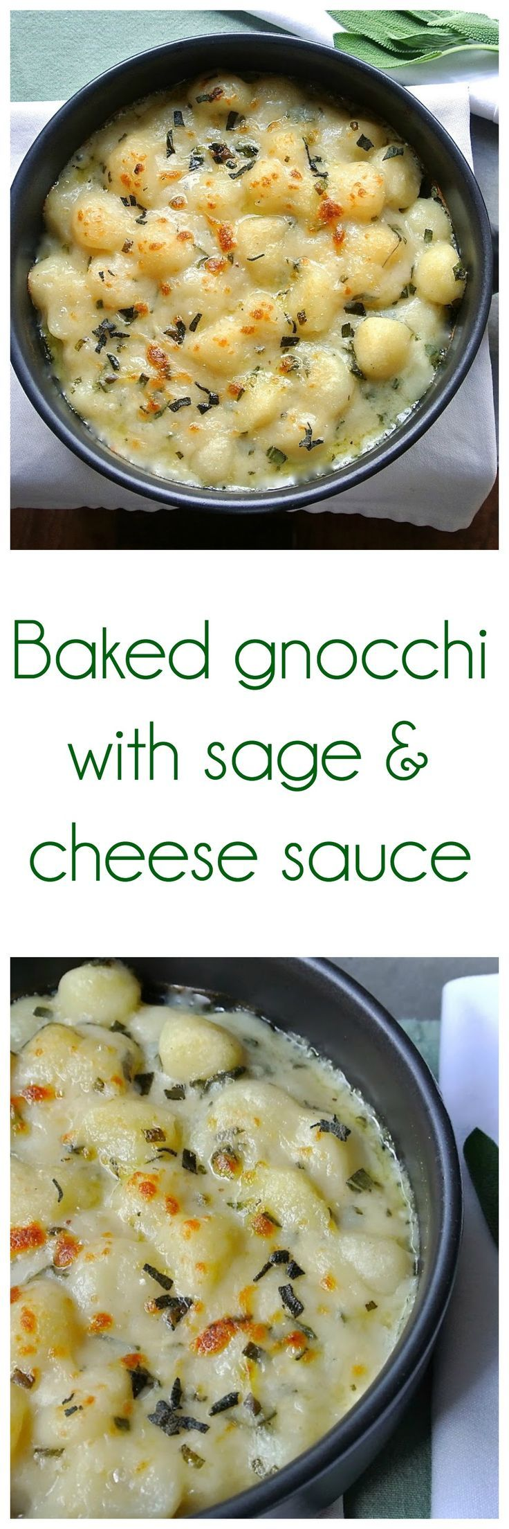 Homemade gnocchi bathed in a creamy cheese and sage sauce. Comfort ...