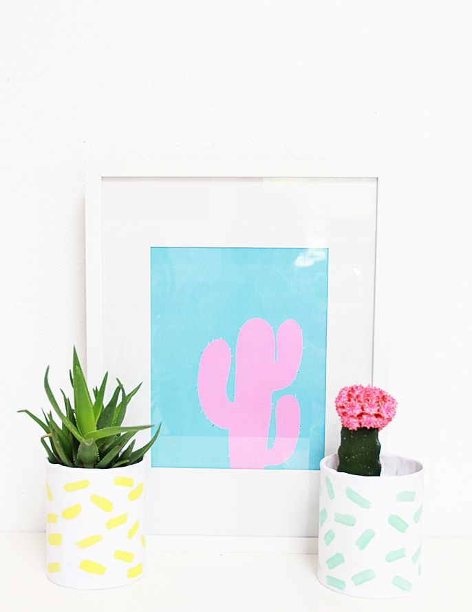 A Bubbly Life: DIY Brushstroke Leather Planters