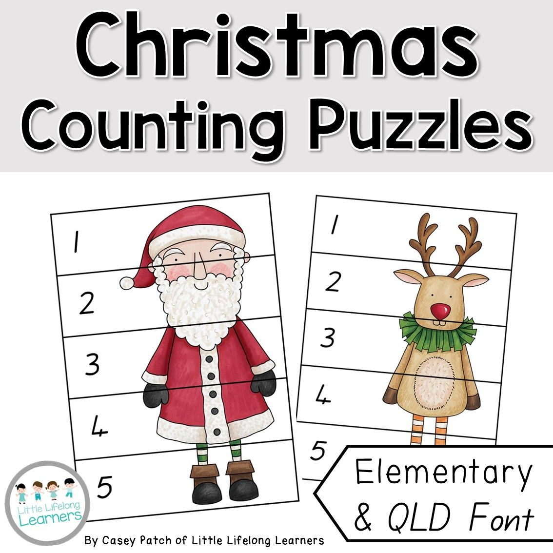 Christmas Number Puzzle Printables