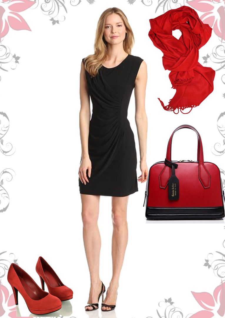 Black Dress For Nightouts With Red Shoes Blackdress Nightoutdress Redshoes Flattering Dresses Fashion Black Dress [ 1080 x 765 Pixel ]