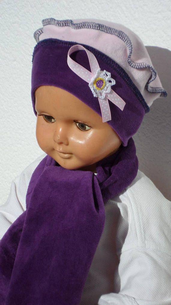 ensemble bonnet béret chapeau et écharpe bébé fille   BONNETS BÉBÉ ... 15f82d268ca
