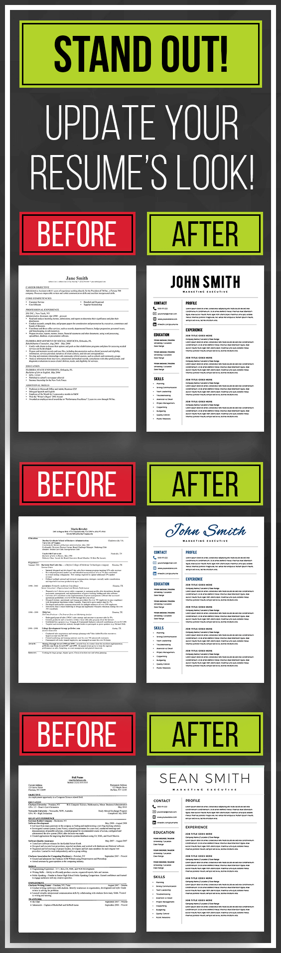 Templates For Resumes Word Interesting Stand Out With Resume Template Resume Templates Word Cv Template .