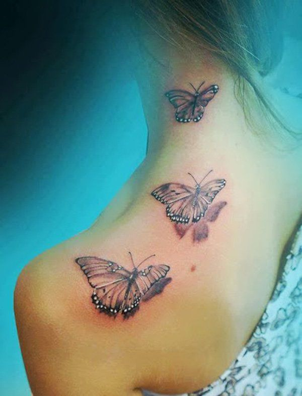 Girly Butterfly Tattoo : girly, butterfly, tattoo, Examples, Girly, Tattoo, Cuded, Butterfly, Shoulder,, Tattoos, Women,