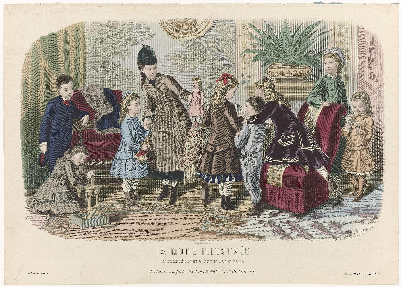 Anonymous la mode illustrée 1876 no. 50 : costumes denfants
