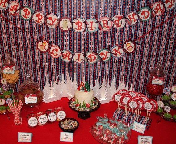 Decoraciones de cumpleaños partido rojo por AdoraBelleDesign